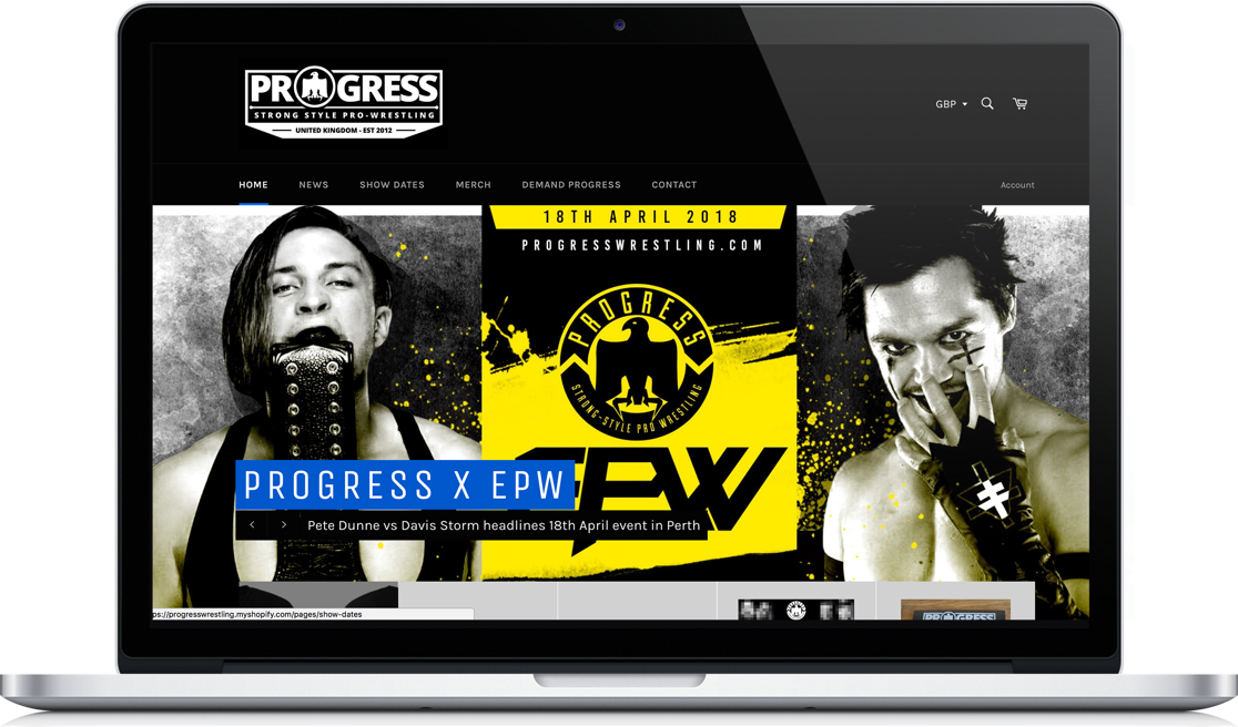Progress Wrestling Macbook